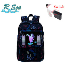 Voice-activated Backpack Intelligent luminous Women Shopping Bag Waterproof usb Rechargeable Nylon Shoulder Hot Sale