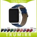Теленок Натуральной Кожи Ремешок Крокодиловый Ремешок для 38 мм 42 мм iWatch Apple Watch Наручные Пояс Браслет с Разъемами Мульти цвет