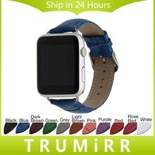 Veau Véritable Bracelet En Cuir Croco Sangle pour 38mm 42mm iWatch Apple Watch Bande Poignet Ceinture Bracelet avec Connecteurs Multi couleur