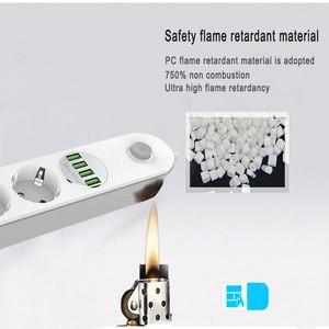 Image 5 - Штепсельная Вилка европейского стандарта USB с разъемом для быстрой зарядки 3,4 А, многорусская электрическая удлинительная розетка для интеллектуального домашнего фильтра