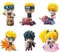 6 unids/set Funko Pop Naruto Sasuke Kakashi Uchiha Itachi Gaara Montajes Colecciones Juguetes Figuras de Anime de Japón figura de acción de regalo # E