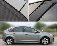 Auto Window Frame ABC Pillar Carbon Fiber Protection Film Car Styling Sticker And Decal For Ford