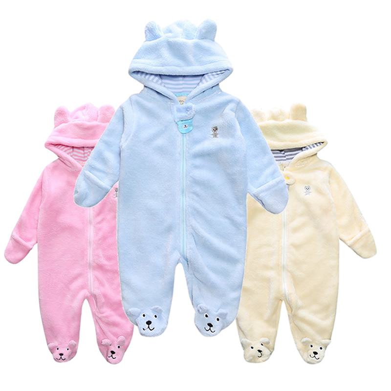 0-12M Newborn baby rompers Winter Autumn Baby boy clothes Jumpsuit Baby Girl animal Rompers Baby Warm Long Sleeve Infant Pajamas cartoon fox baby rompers pajamas newborn baby clothes infant cotton long sleeve jumpsuits boy girl warm autumn clothes wear
