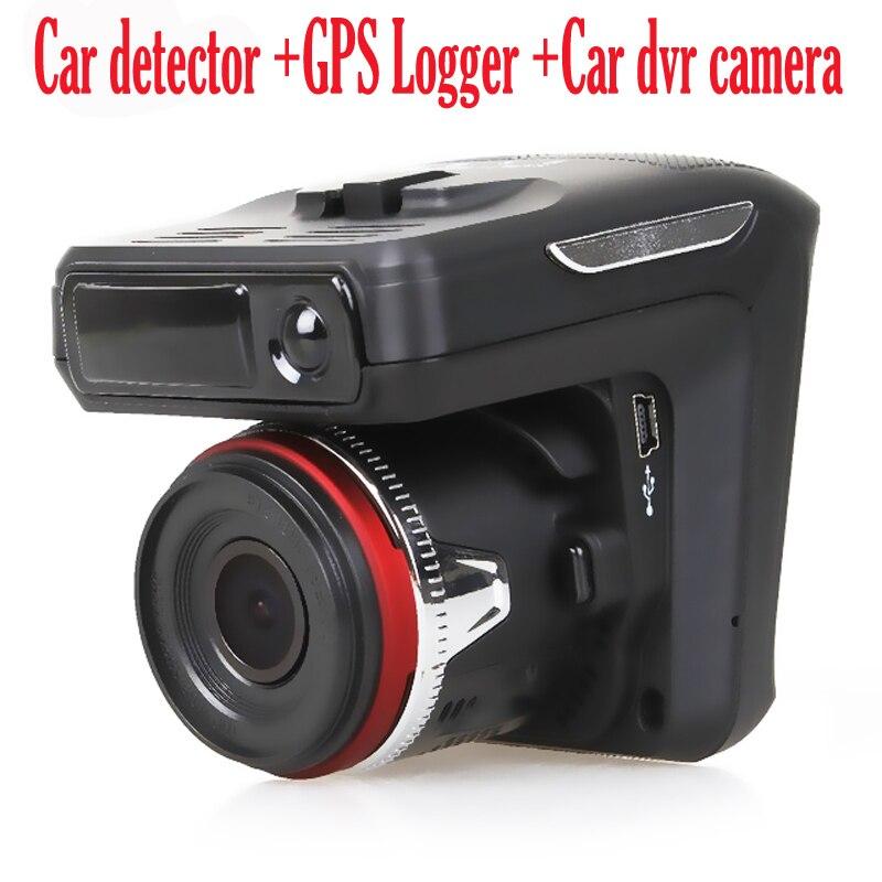 Автомобильный радар-детектор 3 в 1, dvr камера с объективом 150 градусов Full HD 1280x720P 30FPS 2,4