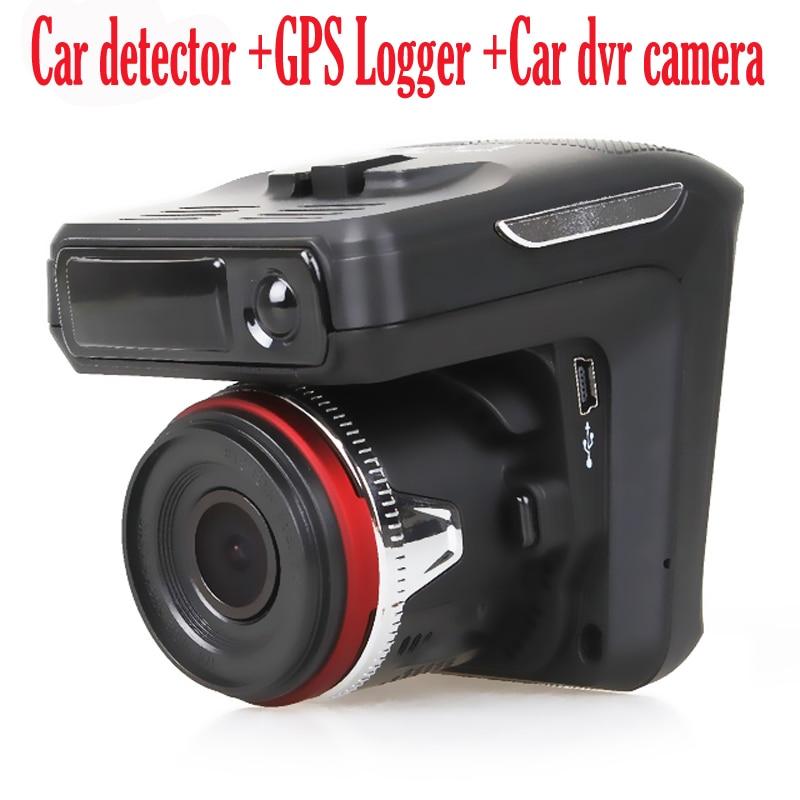 ( Russian Voice) Car Radar Detector 3 in1 dvr camera 150 degree lens Full HD 1280x720P 30FPS 2.4 TFT laser GPS Logger tracker. цена