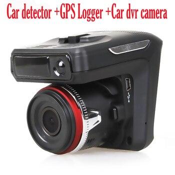 """( Russian Voice) Car Radar Detector 3 in1 dvr camera 150 degree lens Full HD 1280x720P 30FPS 2.4"""" TFT laser GPS Logger tracker."""