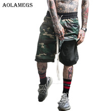 Aolamegs Men Casual Shorts Elastic short Cargo Shorts Hommes Camouflage Sided wear Street Wear Knee-length Short Sweatpants
