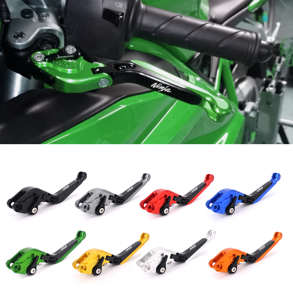 Motorcycle Brakes Clutch Levers For KAWASAKI NINJA ZX12R ZX6R/ZX636R/ZX6RR ZX10R ZZR600 ZX9R ZX 12R/6R/636R/6RR/10R ZZR 600 cotton motorcycle brake fluid reservoir clutch tank oil cup cover socks for kawasaki ninja ex300 zx636r zx10r z750 z1000 zx12r