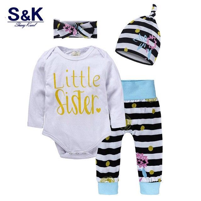 3eab21b59b44 Abbigliamento per bambini per le Ragazze Dei Ragazzi Maniche Lunghe Body +  Pantaloni A Righe +
