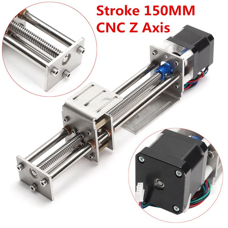 150MM Mini CNC Z Axis Slide DIY Linear Motion Milling 3 Axis Engraving Machine With a Stepper Motor For Reprap Engraving Machine cnc z axis slide table 60mm stroke diy milling linear motion 3 axis engraving machine new