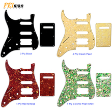Pleroo Guitar Accessories left handed Pickguard with back plate for Fender Stratocaster Player Humbucker Standard ST HSS guitar