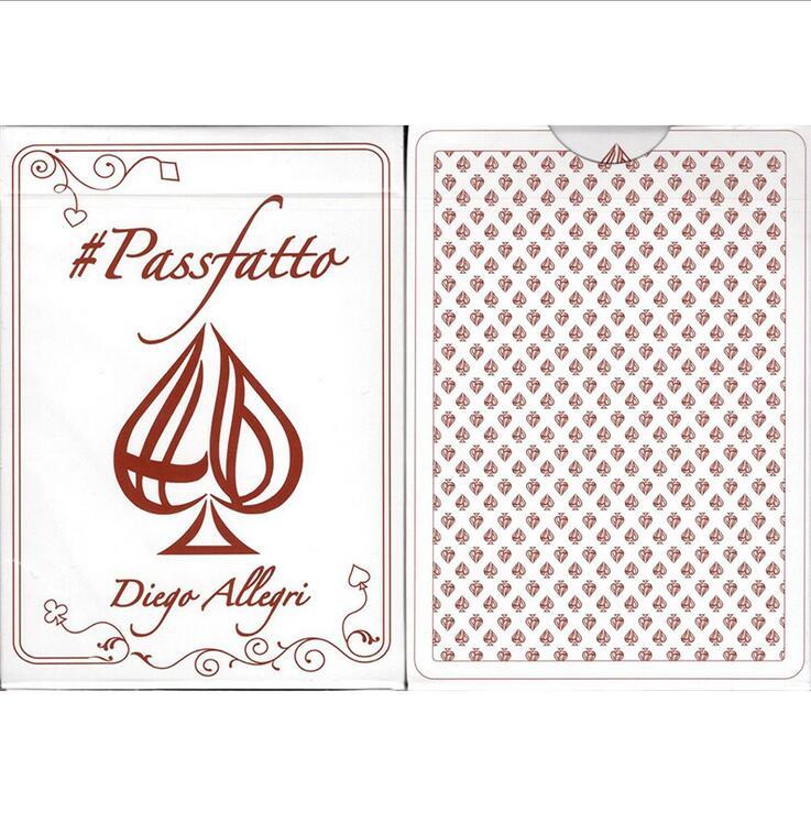 1 Deck PassFatto Poker Deck cartes à jouer édition limitée Poker nouvelles cartes de Poker magiques scellées tours de magie accessoires