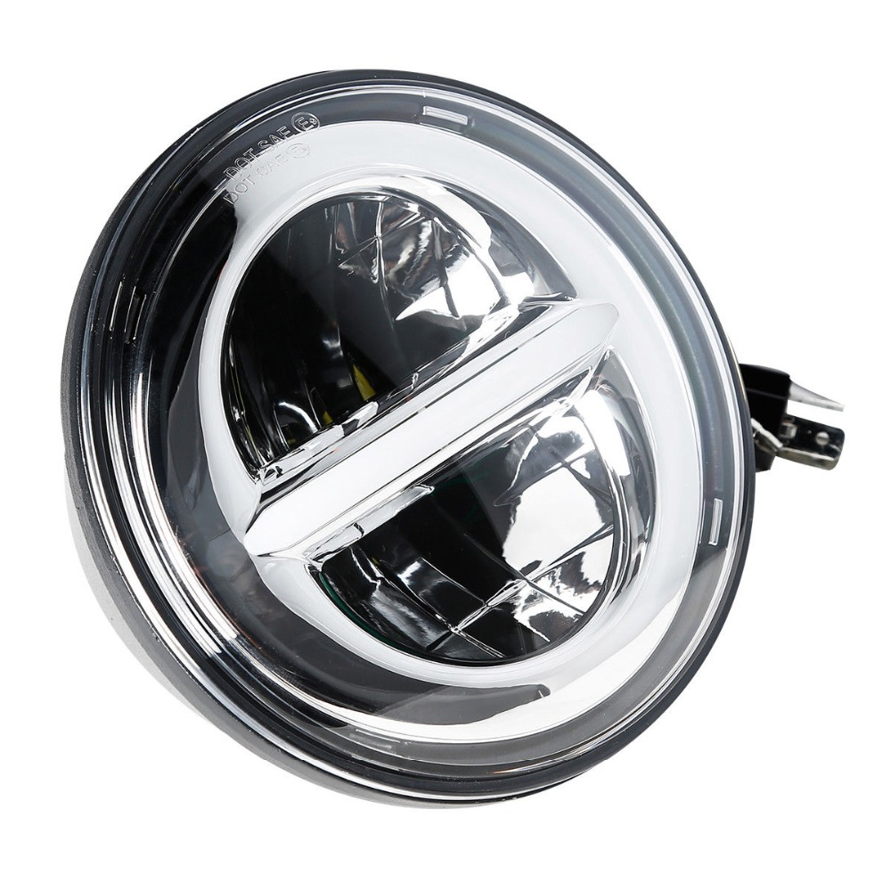 Motorcycle 7 quot LED Projector Headlight Lamp Fit For Harley Electra Glide 2000 2014 2013 Bad Boy 95 97 Chrome