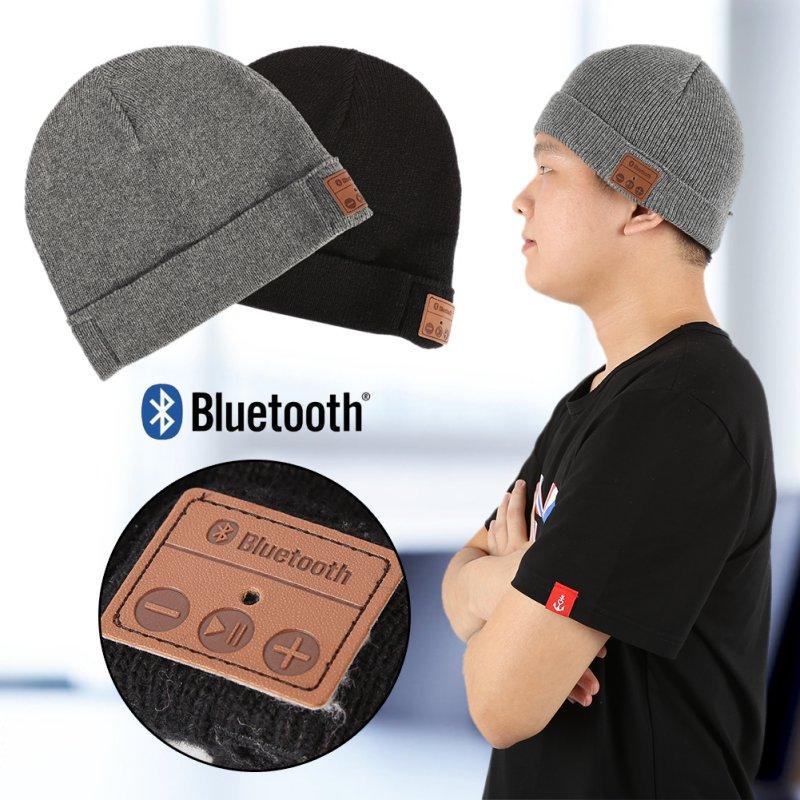 New Soft Warm Beanie Hat Wireless Bluetooth Smart Cap Headset Headphone Speaker Mic Bluetooth Hat