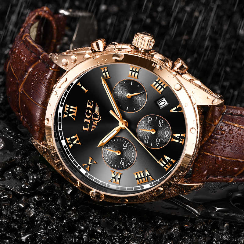 2020 Luik Heren Horloges Top Brand Luxe Waterdichte 24 Uur Datum Quartz Klok Mannelijke Lederen Sport Polshorloge Relogio Masculino