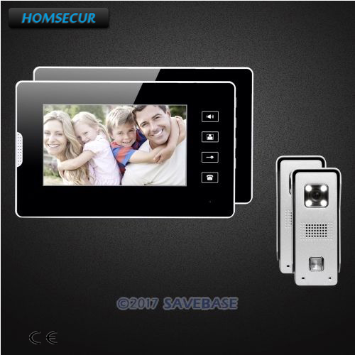 HOMSECUR 7inch Wired Video Intercom System Electric Lock Supported With Video & Dual-way Audio Communication for Home Security