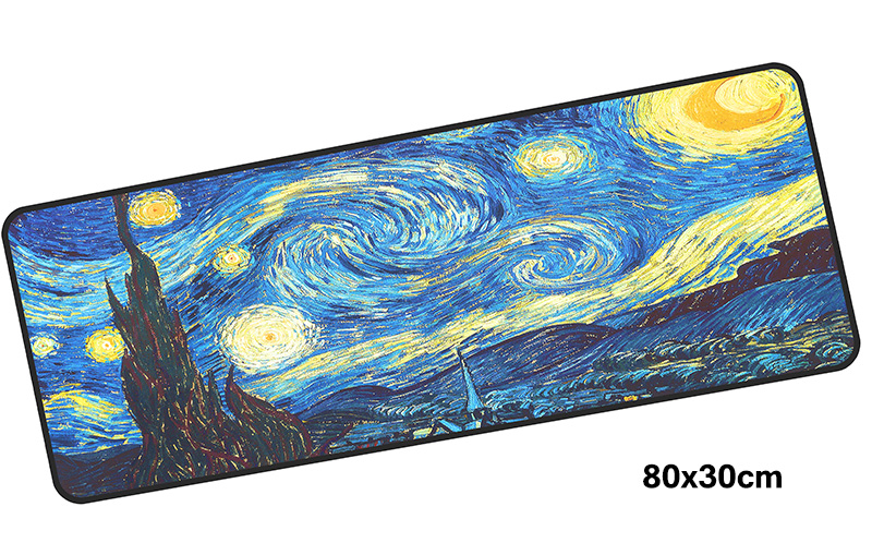 van gogh mousepad gamer 800x300X3MM gaming mouse pad large Aestheticism notebook pc accessories laptop padmouse ergonomic mat