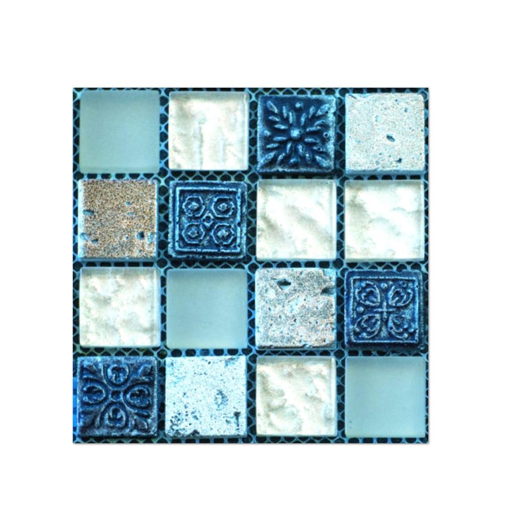 20pcs 3D DIY Waterproof Self Adhesive Wall Stickers Mosaic Tile Decal Art Decor