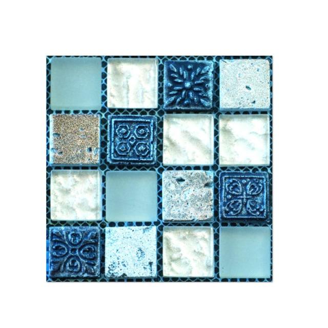 20pcs Waterproof Tile Wall Stickers Kitchen Bathroom Self-Adhesive Mosaic Decor
