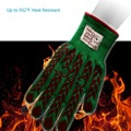 Non Slip Silicone Barbecue Pit Mitt Oven Grill Heat Resistant BBQ Gloves for Fireplace use.