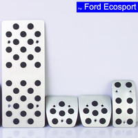 Car Aluminium Alloy Petrol Clutch Fuel Brake Braking Pad Foot Pedals Rest Plate for Ford EcoSport Auto Pedals Free Shipping