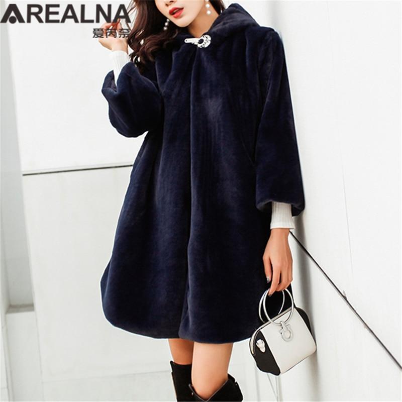 Manteau court femme bleu marine