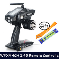 WFLY WFX4 4CH 2.4G high speed surface radio 40 models led screen gun Remote Controller switched L/R hand for rc car and boat
