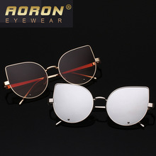 Woman Fashion Sunglasses Trend Glasses Stainless Steel Exceed Light Reflect Light Sunglasses Sunglasses 5517