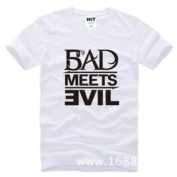 Eminem Bad Meets Evil rap rock Men's T-Shirt T Shirt For Men 2015 New Short Sleeve Cotton Casual Top Tee Camisetas Masculina 10