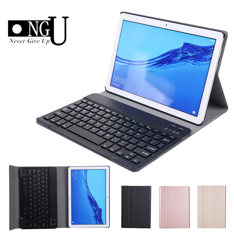 Bluetooth Keyboard Case For Huawei MediaPad T5 10 10.1 AGS2 W09-W19 L03 L09 Detachable Keyboard Flip Leather Tablet Cover Stand