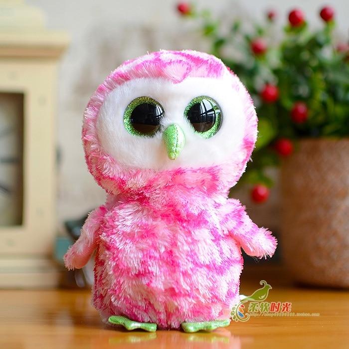 Ty stuffed  animals big eyes owl doll  plush toys baby gift kawaii hot sale