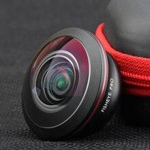 Nulaxy 4k HD Mobile Phone Fisheye lens 238 Degree Wide Angle Phone Lens