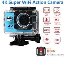 ELECTSHONG 1080p Sports Wifi Camera 4K 16MP digital video Camera 30m waterproof HD Remote Control Camcorder  2.0' Screen