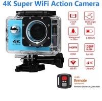 ELECTSHONG 1080p Sports Wifi Camera 4K digital video Camera 30m waterproof HD Remote Control Camcorder 2.0' Screen