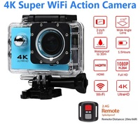 ELECTSHONG 1080p Sports Wifi Camera 4K 16MP digital video Camera 30m waterproof HD Remote Control Camcorder 2.0' Screen