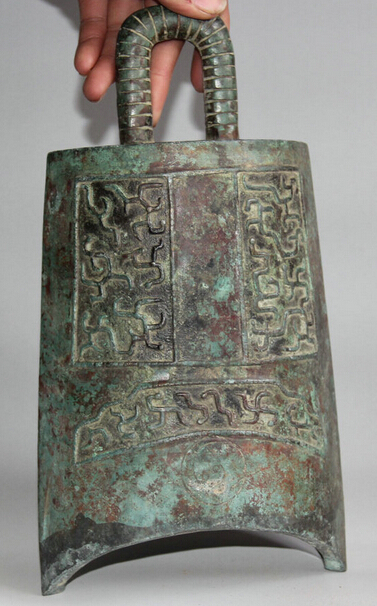 JP S62 12 Архаического Династия Китайский Дворец Бронзовый плоским Храм храм висит Колокол Чжун - 5