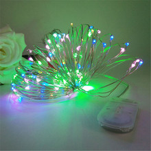 Cooper Wire Cabinet Lights 2M 5M 10M LED String Lights Christmas Home Decor Battery Operated Christmas Wedding Lamp Guirlande