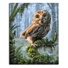 WONZOM Forest Owl Framed DIY Painting By Numbers Animals Wolf Acrylic Modern Deer Picture Home Decor For Living Room