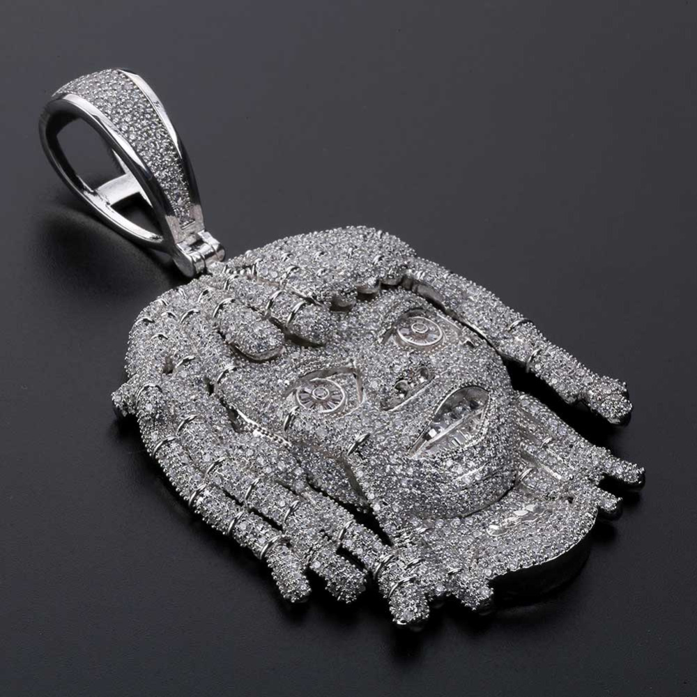 JINAO AAA Micro Pave Lil Pump Pendant Necklace With 10mm Cuban Chain Silver Cubic Zircon Iced