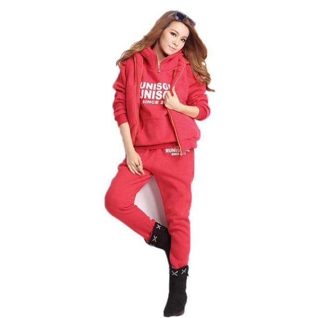 3pcs Suit Winter Warm Hooded 5