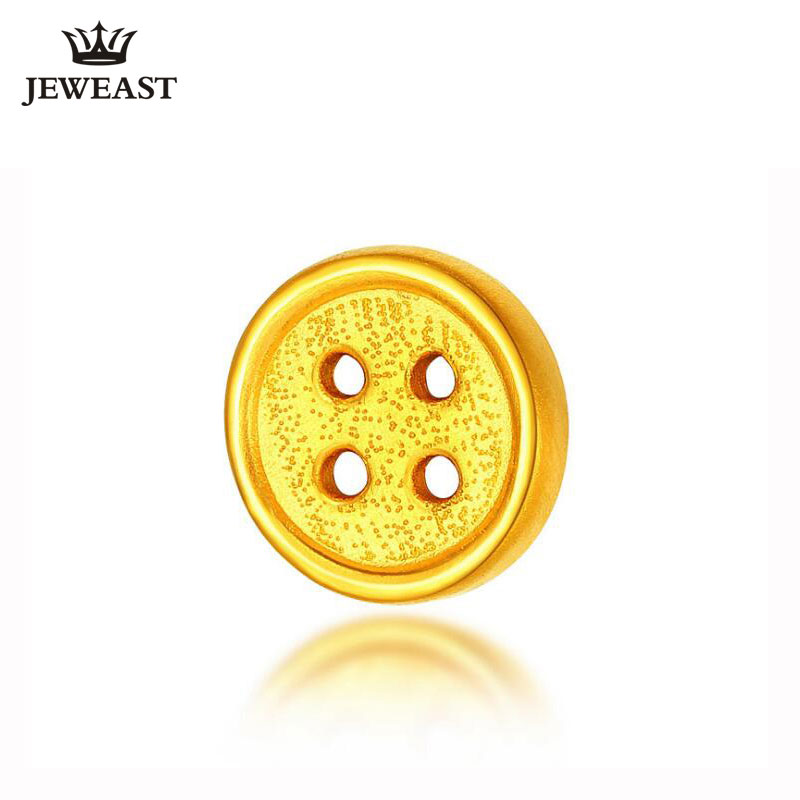 24k Pure Gold Pendant Buttons Real 999 Solid Female Fine Jewelry Yellow Cute Fashion Upscale 2017 Charm 2017 New Hot Selling цена