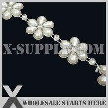 Bridal-Accessories Trimming-String Garland Pearl-Beads Cake-Gift-Box Rhinestone Thread