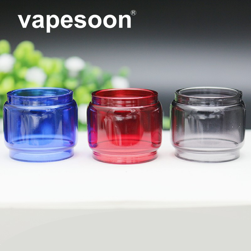 VapeSoon Colorful <font><b>Bulb</b></font> <font><b>Glass</b></font> Tube For <font><b>TFV12</b></font> <font><b>Prince</b></font> 8ml Atomizer TANK 1pcs image