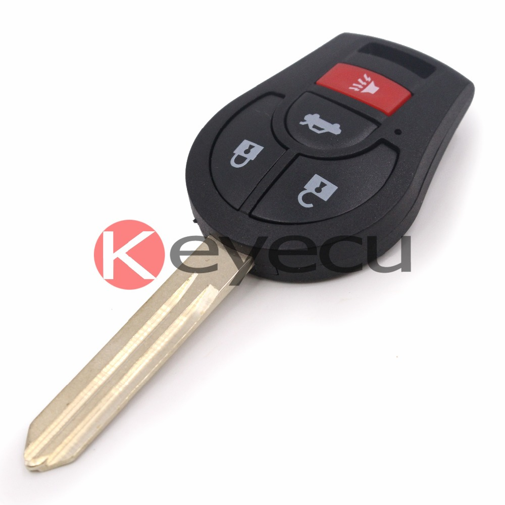 Keyecu 10pcs/lot Uncut Keyless Entry Remote Key Fob 315MHz ID46 Chip for Nissan Sentra 2013-2014 new 1 button uncut blade remote car key shell for renault twingo clio kangoo master no chip keyless entry fob case