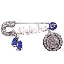 Müslüman İslam Maşallah dört Qul suras Paslanmaz çelik pim broş Bebek Pin