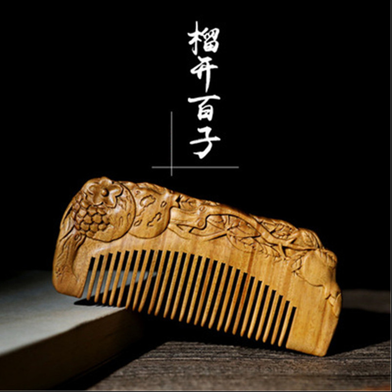 Handmade Hair Brush Black Sandalwood Comb Anti-static Massage Professional Health Care Comb Wedding/ Birthday Gift FreeshippingHandmade Hair Brush Black Sandalwood Comb Anti-static Massage Professional Health Care Comb Wedding/ Birthday Gift Freeshipping