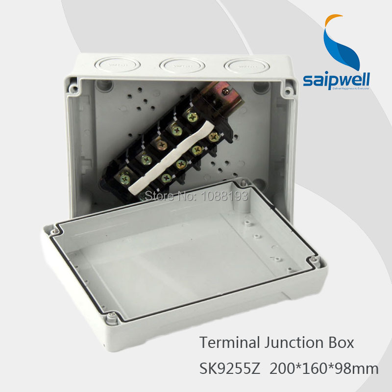 IP65 200 160 98mm ABS Plastic Electronic Terminal Junction Enclosure with Buit in Terminal SK9255Z
