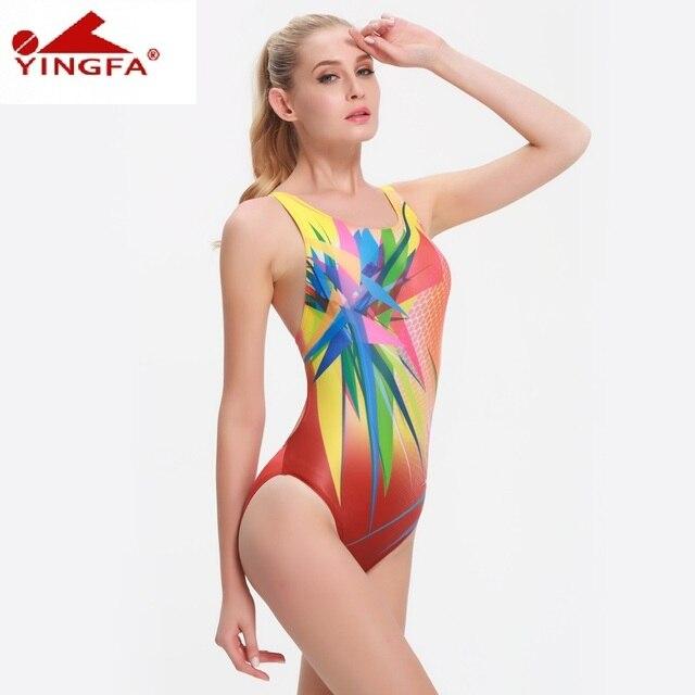 Freiraum suchen zuverlässige Qualität großer Verkauf US $21.9  Yingfa einem stück frauen badeanzüge Kinder racing kinder  konkurrenzfähiger badeanzug Mädchen training wettbewerb schwimmen anzug  berufs in ...