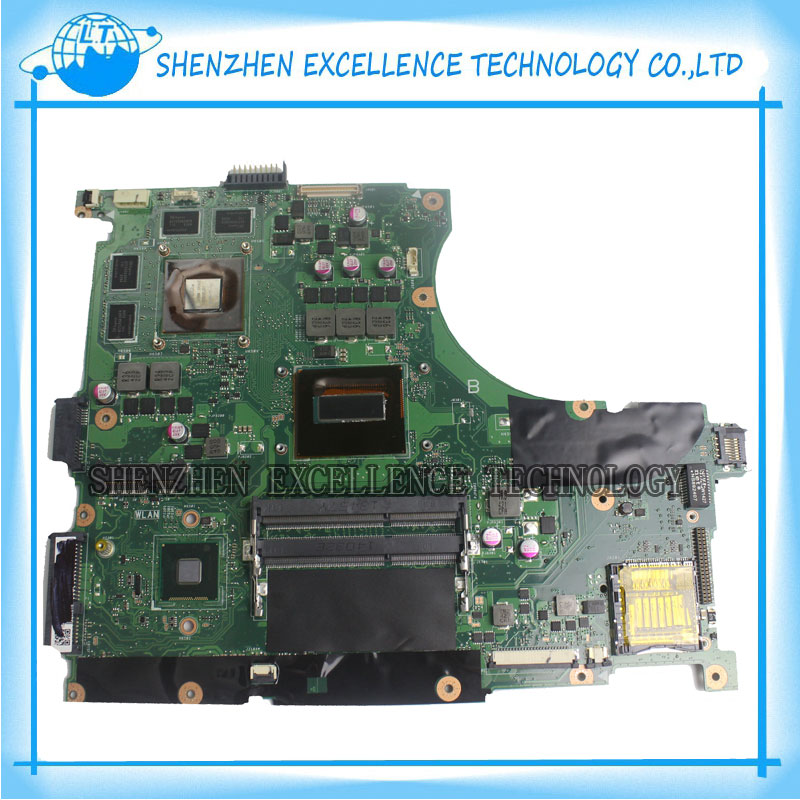 for ASUS N56JK Laptop Motherboard N56JK Mainboard with i7 CPU 8 Memory 2 RAM Slots REV:2.0 Fully Tested vactra industrial motherboard rocky 058hv 3 0 with cpu memory fan