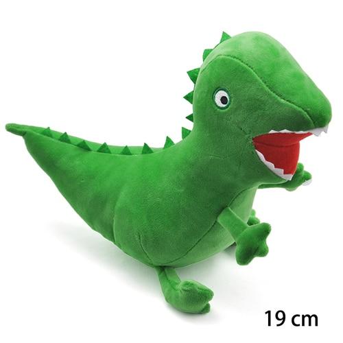19 см оригинальная Свинка Пеппа Джордж Животные Мягкие плюшевые игрушки мультфильм семья папа мама друг Pelucia мягкие куклы игрушки детские подарки - Цвет: Dinosaur